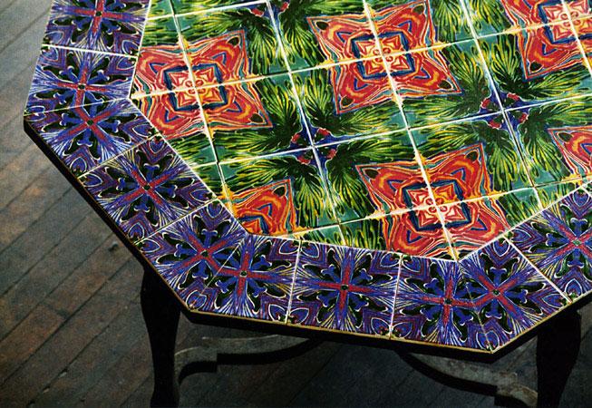 Octagon Kaleidoscope Tile Table