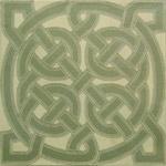 "Celtic Round Knot Tile 8"""