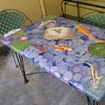 Koi Pond Garden Table