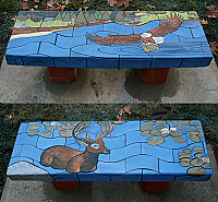"""Cleveland Clinic Brunswick Campus Tile Benches,"""" Eagle's Ration"""" & """"Serene Moment"""""""