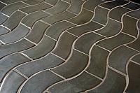 Wave Tile Bath Floor