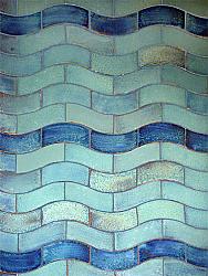Wave tile 2-color design