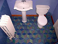 5-Color Rhombus Tiles in Bath
