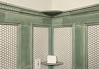 Tile Molding Wall Panels with Top Ledge, Shelves & Base Cove
